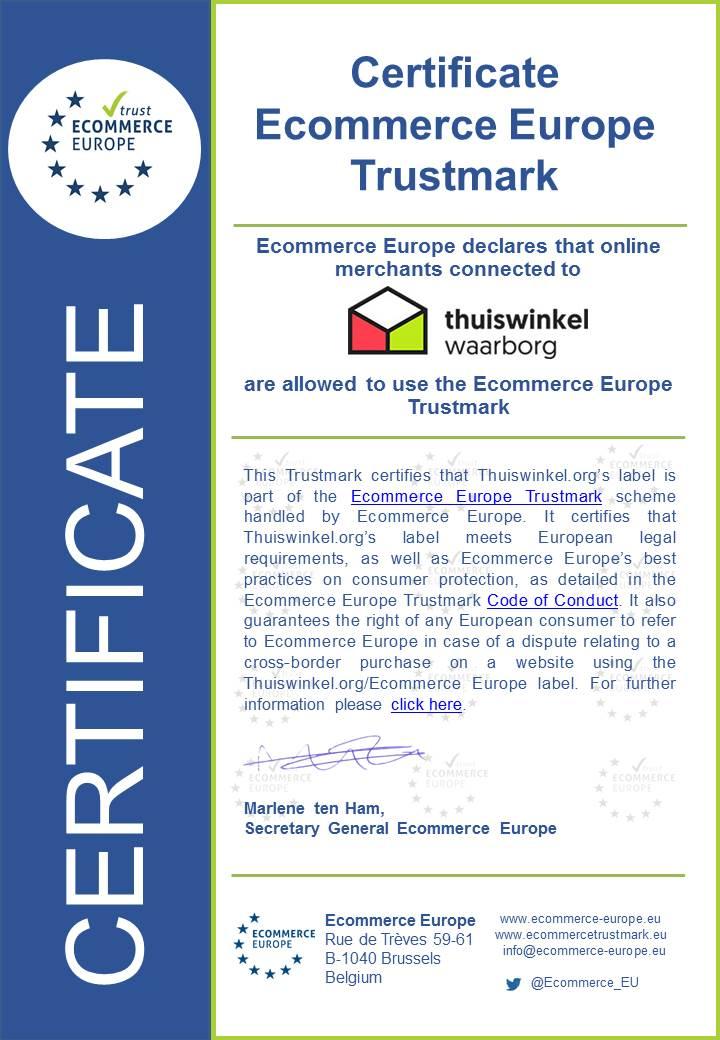 Ecommerce Europe certificate Thuiswinkel.org watermark2